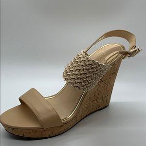 Jessica Simpson JP Jellia nude cork wedge sandals